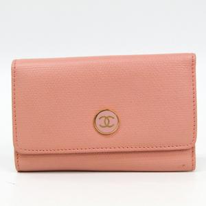 シャネル(Chanel) ココ レディース レザー キーケース ピンクベージュ