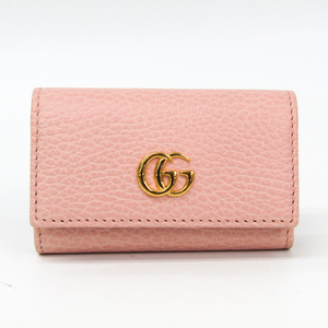 Gucci Petit Mermont 456118 Women's Leather Key Case Light Pink