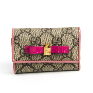Gucci 388682 Japan Exclusive Women's GG Supreme Key Case GG Beige,Pink