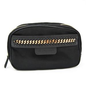 Stella McCartney Cosmetic Case 469180W8091 Women's Nylon,Leather Pouch Black