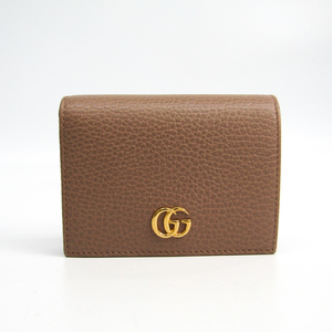Gucci 456126 Leather Card Case Beige
