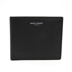 サン・ローラン(Saint Laurent) 396303 メンズ レザー 財布(二つ折り) ブラック