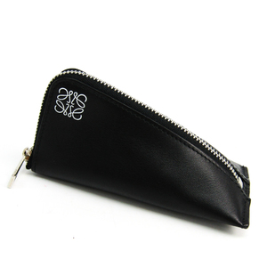 Loewe 109.54.K51 Unisex  Calfskin Coin Purse/coin Case Black