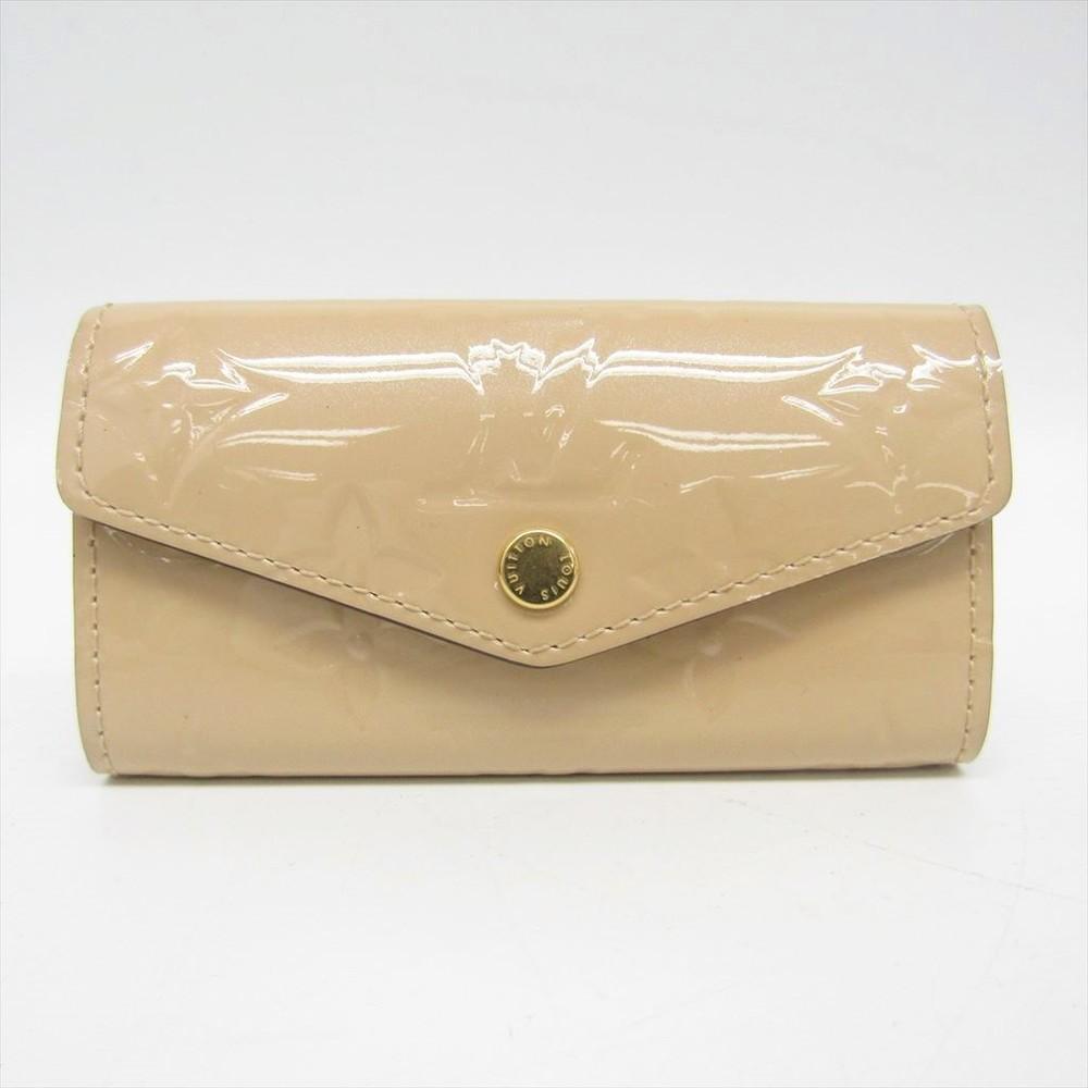 Louis Vuitton Monogram Vernis Multicles 4 M90910 Women's Monogram Vernis Key Case Dune