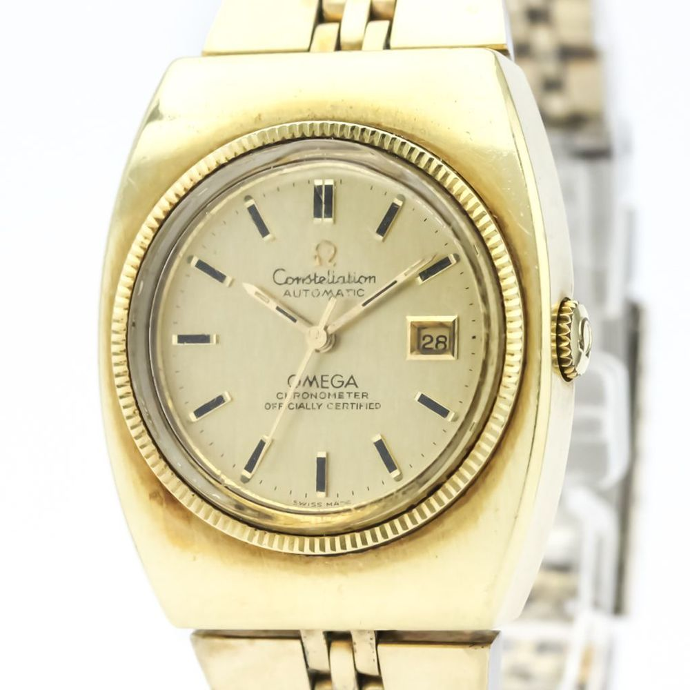 Vintage OMEGA Constellation Cal 682 Gold Plated Automatic Watch 568.015