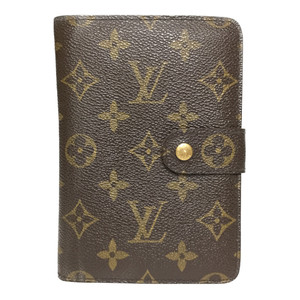 Auth Louis Vuitton Monogram M61207 Portopapie Zip Wallet (bi-fold)