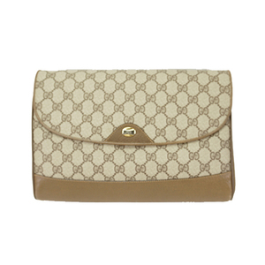 Auth Gucci Shoulder Bag GG Supreme 116.02.067 Brown