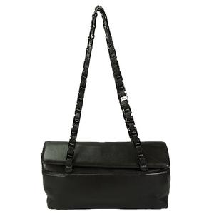 Auth Salvatore Ferragamo Shoulder Bag Chain Bag AU-21 8804 Black