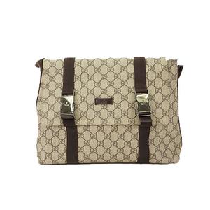 Auth Gucci GG Supreme Shoulder Bag 122373  Beige