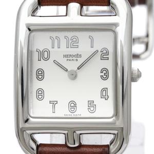 HERMES Capecod Steel Leather Quartz Ladies Watch CC1.210