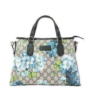 Auth Gucci 2way Handbag  GG Blooms 429019 Black,Blue