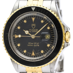 Tudor Mini Sub Automatic Stainless Steel,Gold Plated Unisex Sports Watch 73091
