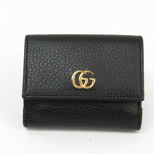Gucci GG Marmont 524672 Women's Leather Wallet (tri-fold) Black