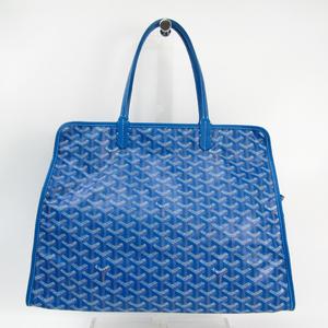 Goyard HARDY PM Unisex Canvas,Leather Tote Bag Blue