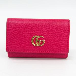 グッチ(Gucci) プチマーモント 456118 レディース レザー キーケース ピンク