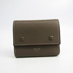 セリーヌ(Celine) 104903AFE.09SO レディース レザー 財布(三つ折り) イエロー,グレージュ