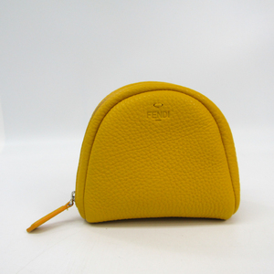 Fendi Women's Leather Pouch Yellow