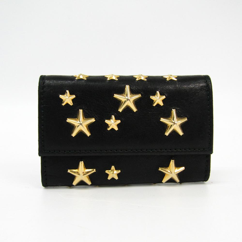 Jimmy Choo NEPTUNE Women's Leather Key Case Black