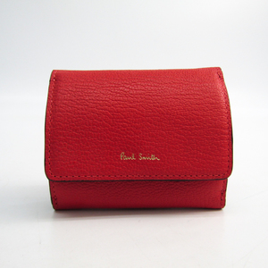 Paul Smith Women's Leather Wallet (tri-fold) Coral Red