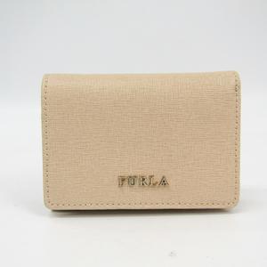 Furla Babylon 774924 Women's Leather Wallet (tri-fold) Light Beige