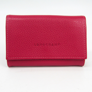 Longchamp Women's Leather Coin Purse/coin Case Pink