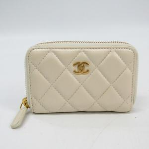 シャネル(Chanel) マトラッセ レディース  ラムスキン 小銭入れ・コインケース ホワイト