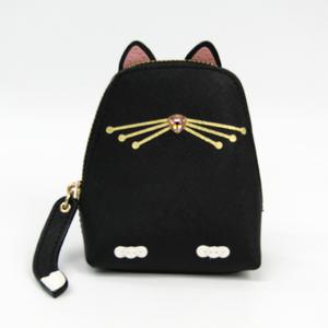 ケイト・スペード(Kate Spade) cat coin purse jazz things up WLRU3071 レディース レザー,ラインストーン 小銭入れ・コインケース ブラック,ピンク,ホワイト