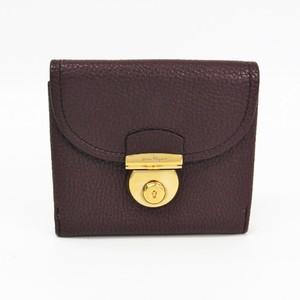 Salvatore Ferragamo 22 C236 Women's Leather Wallet (bi-fold) Bordeaux