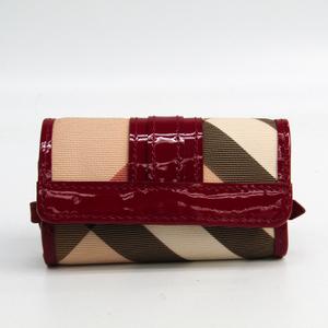 バーバリー(Burberry) 3759511 レディース PVC パテントレザー キーケース ベージュ