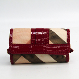 Burberry 3759511 Women's PVC Patent Leather Key Case Beige