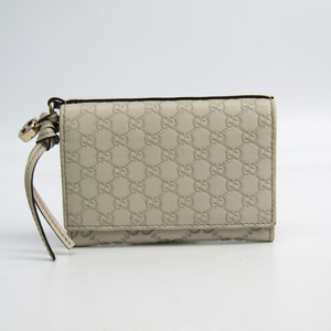 Gucci Guccissima 323401 Leather Business Card Case Ivory