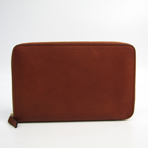 セリーヌ(Celine) オーガナイザー レディース  スムースカーフ 長財布(二つ折り) ブラウン