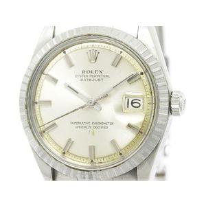 Vintage ROLEX Datejust 1601 White Gold Steel Automatic Mens Watch