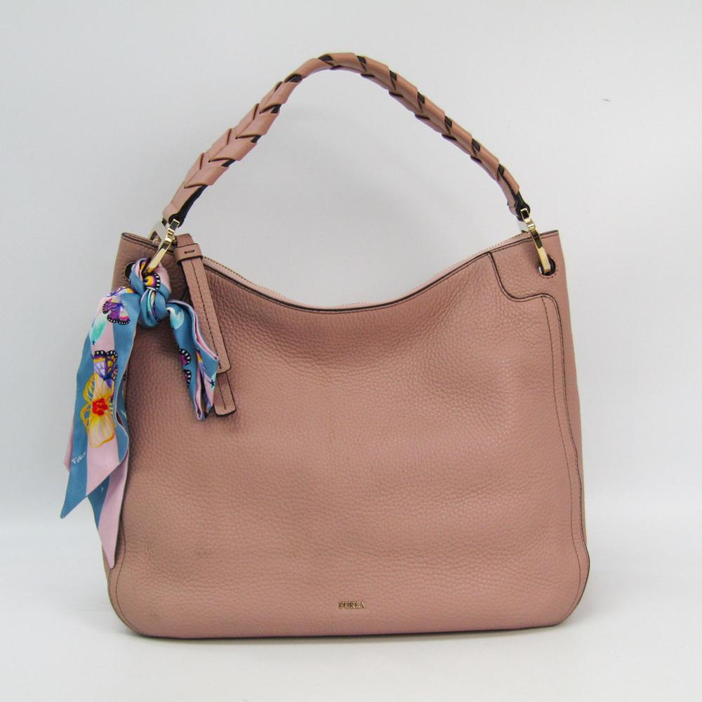 Furla Rialto Hobo 942313 Women's Leather Shoulder Bag Pink