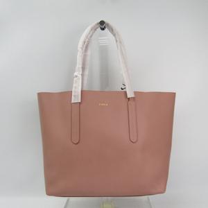 Furla ARIANA 986928 Women's Leather Tote Bag Pink Beige