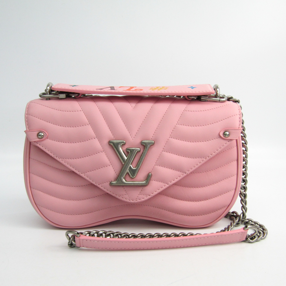 Louis Vuitton Exclusively Online New Wave Chain Bag MM M52707 Women s  Shoulder Bag Pink e7d4a9b1e25c4