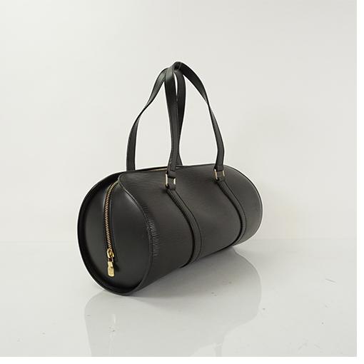 2e3bc5883d0 Auth Louis Vuitton Handbag Epi Soufflot Noir M52222