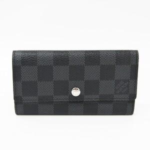 Louis Vuitton Damier Graphite Porte-Cles Voiture N63139 Damier Graphite Key Case Damier Graphite