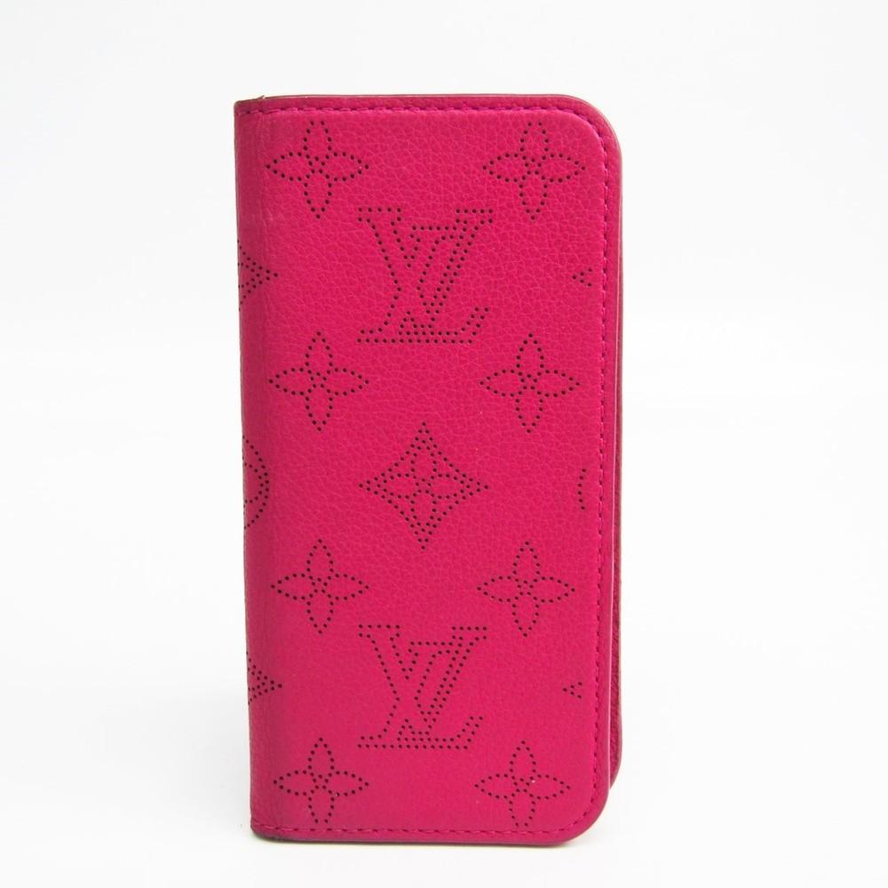 99662ae303 Louis Vuitton Mahina Leather Phone Flip Case For IPhone 7 Fuchsia ...