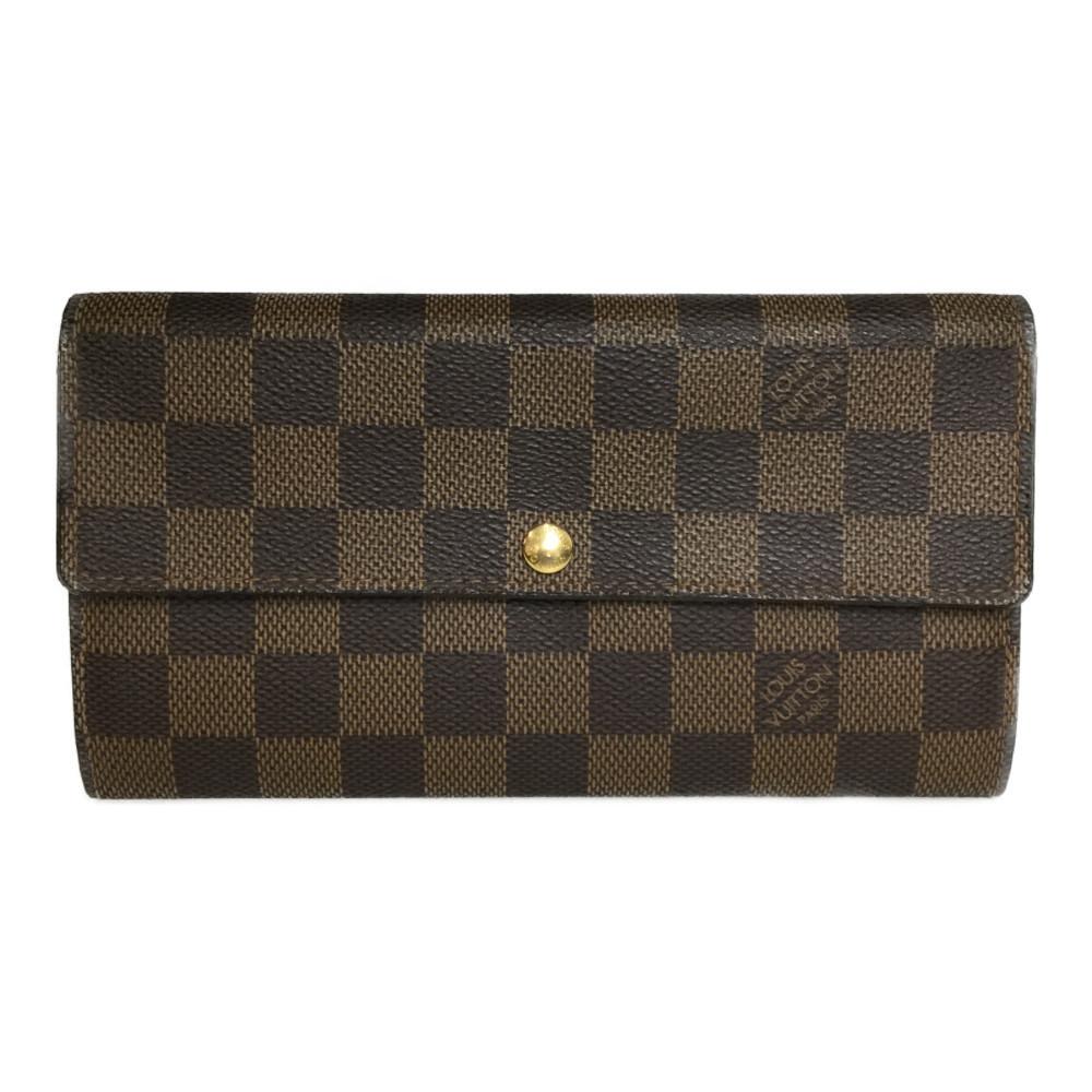【中古】ルイ・ヴィトン(Louis Vuitton) ダミエ N61734 ポルトフォイユサラ 長財布(二つ折り)