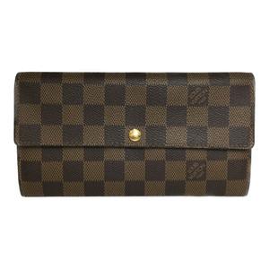 Auth Louis Vuitton Damier N61734 PORTEFEUILLE SARAH Long Wallet (bi-fold)
