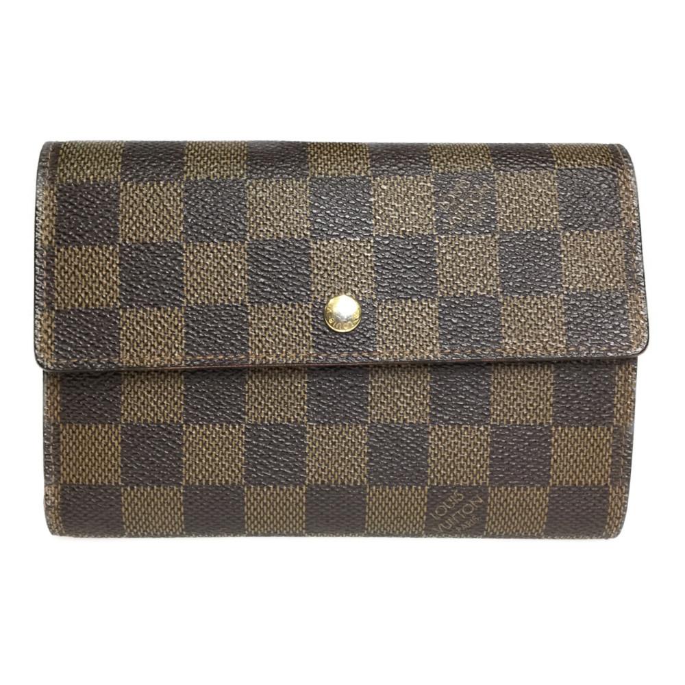 ルイ・ヴィトン(Louis Vuitton) ダミエ N61202 ポルト トレゾール エテュイ・パピエ 財布(三つ折り)