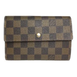 Auth Louis Vuitton Damier N61202 Wallet (tri-fold) Porto Tresol Etui papied