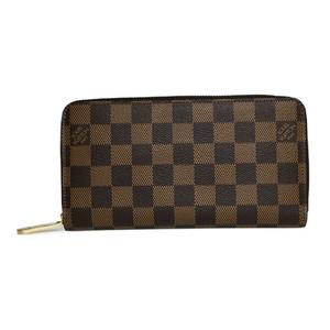 Auth Louis Vuitton Damier N60015 ziypee Wallet Long Wallet