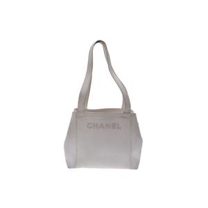 シャネル(Chanel) キャビア・スキン キャビアスキン トートバッグ ホワイト