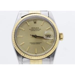 ロレックス(Rolex) デイトジャスト 自動巻き ステンレススチール(SS),イエローゴールド(YG) メンズ ドレスウォッチ 16013