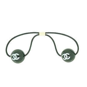 Chanel Coco ココマーク ボール プラスチック ブラック ヘアゴム Plastic Hair Tie Black