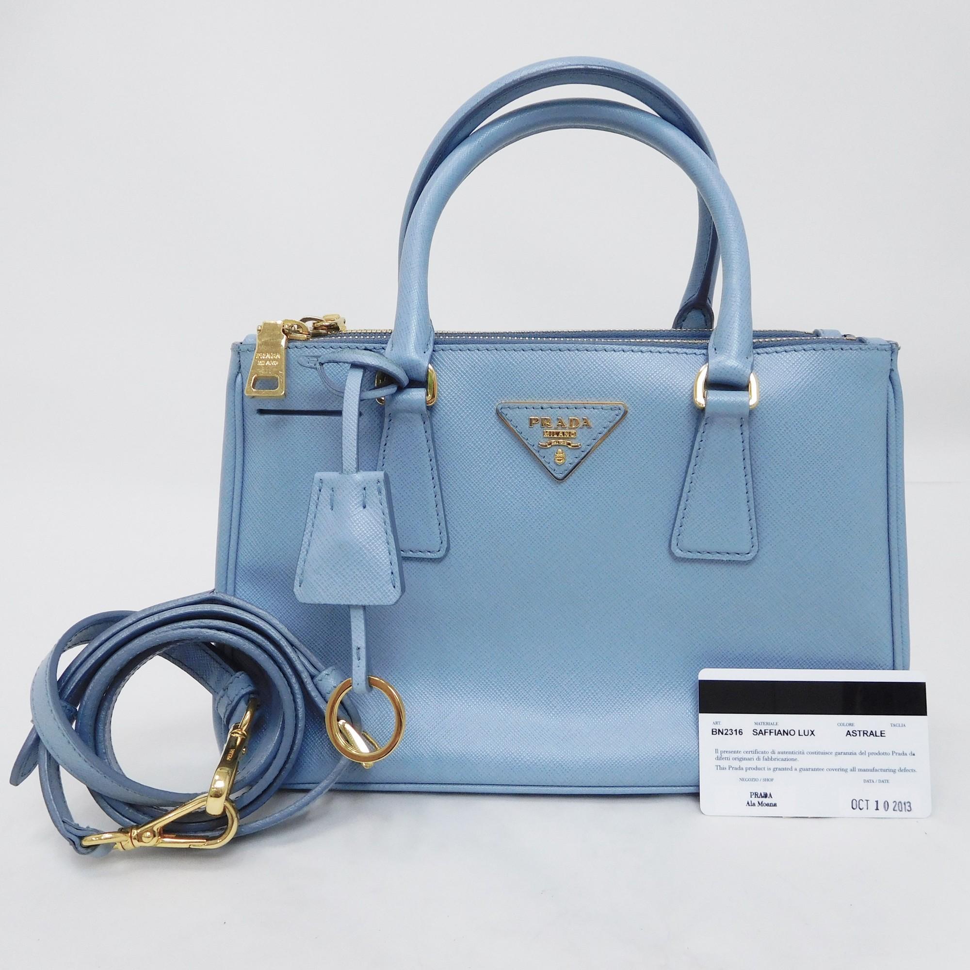 978eb75c5d5 Auth Prada Saffiano BN 2316 SAFFIANO LUX 2 Way GALLERIA Leather Shoulder  Bag   H