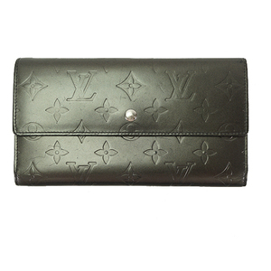 Auth Louis Vuitton Long Wallet Monogram Mat Portefeiulle International M65102