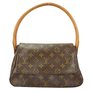 Auth Louis Vuitton Shoulder Bag Monogram Mini Looping M51147